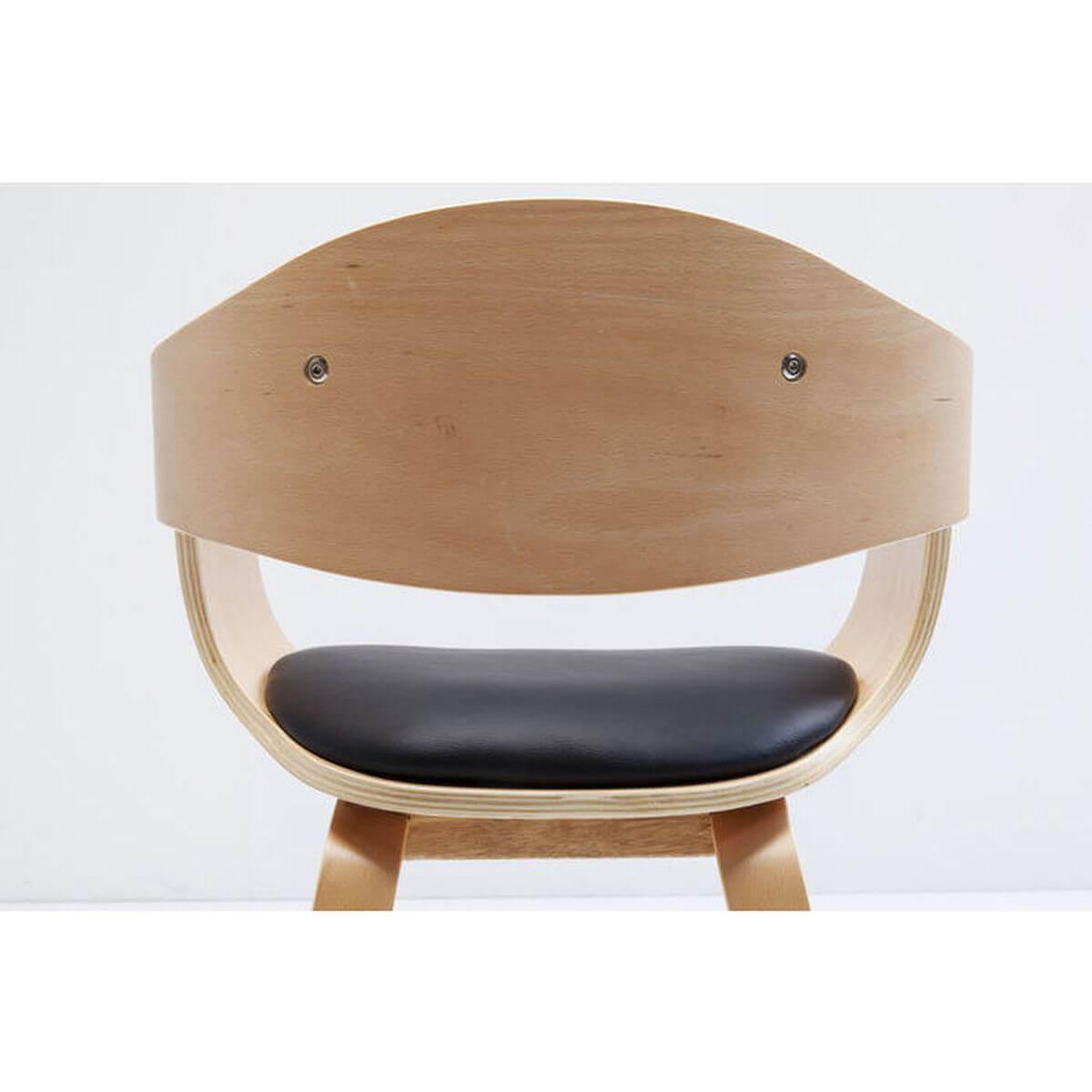 Chaise accoudoirs COSTA Kare Design brun hêtre