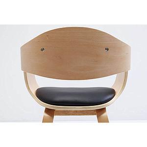 Chaise accoudoirs COSTA Kare Design brun hêtre