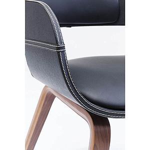 Chaise accoudoirs COSTA Kare Design brun noyer
