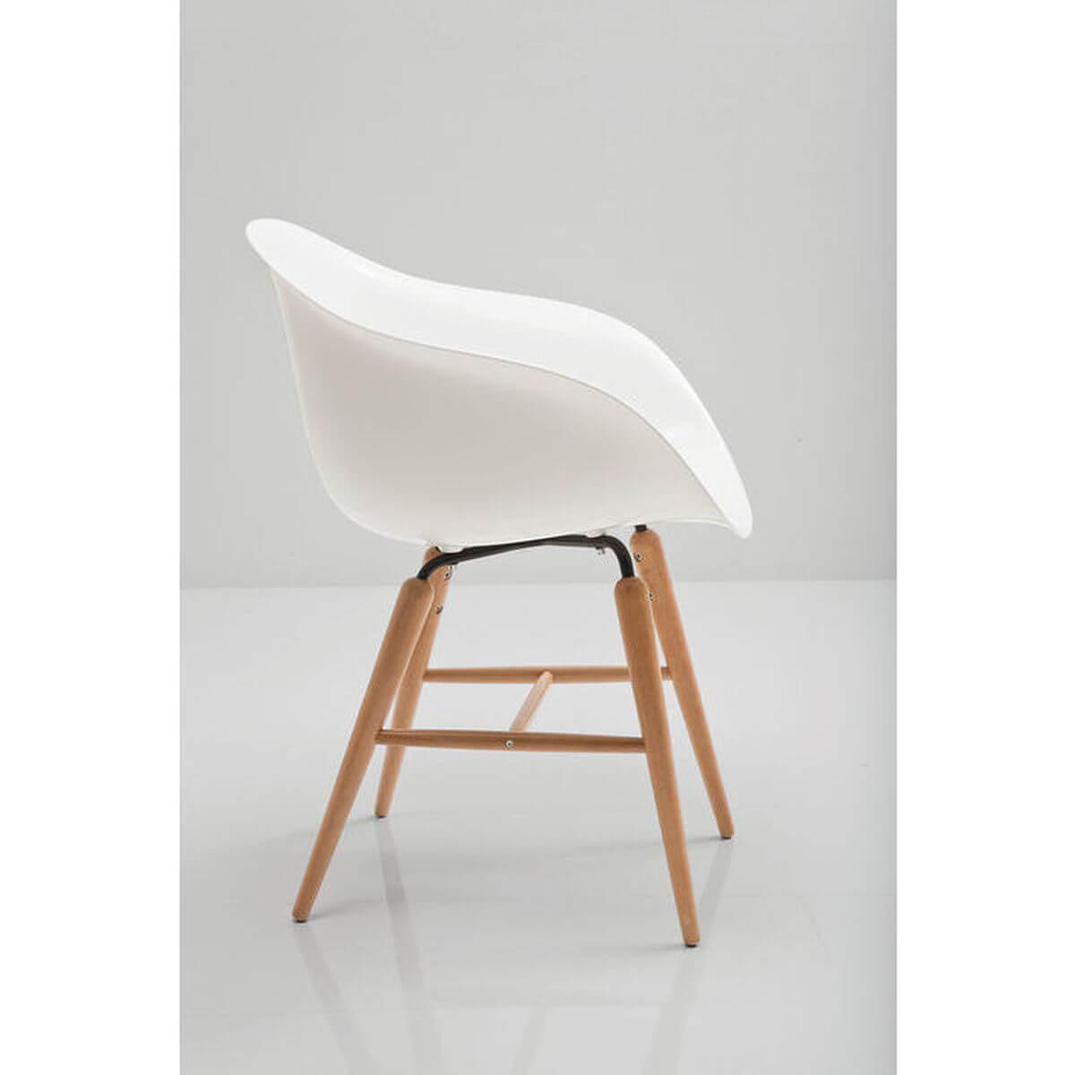 Chaise accoudoirs FORUM WOOD Kare Design blanc
