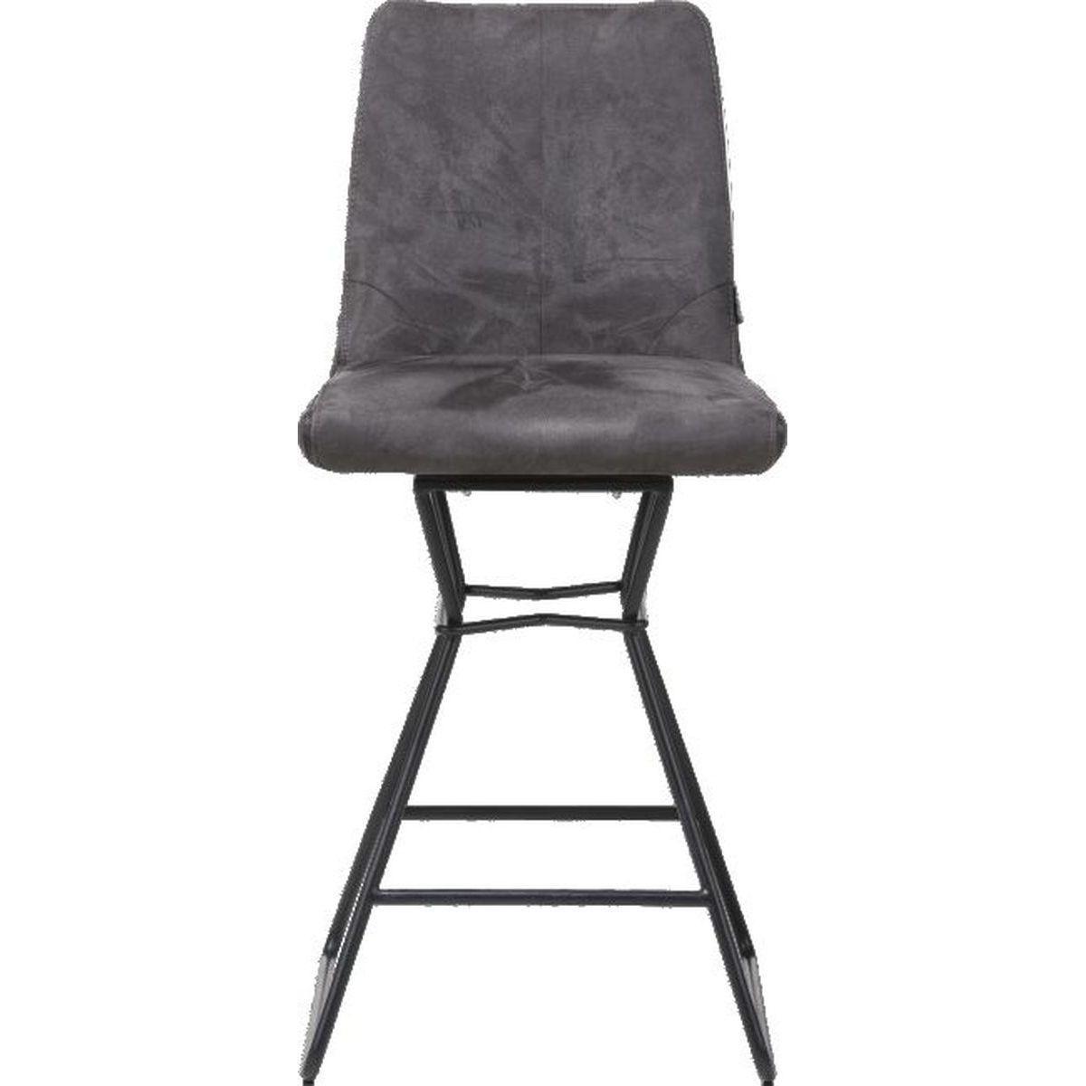 Chaise de bar AIDEN Xooon anthracite