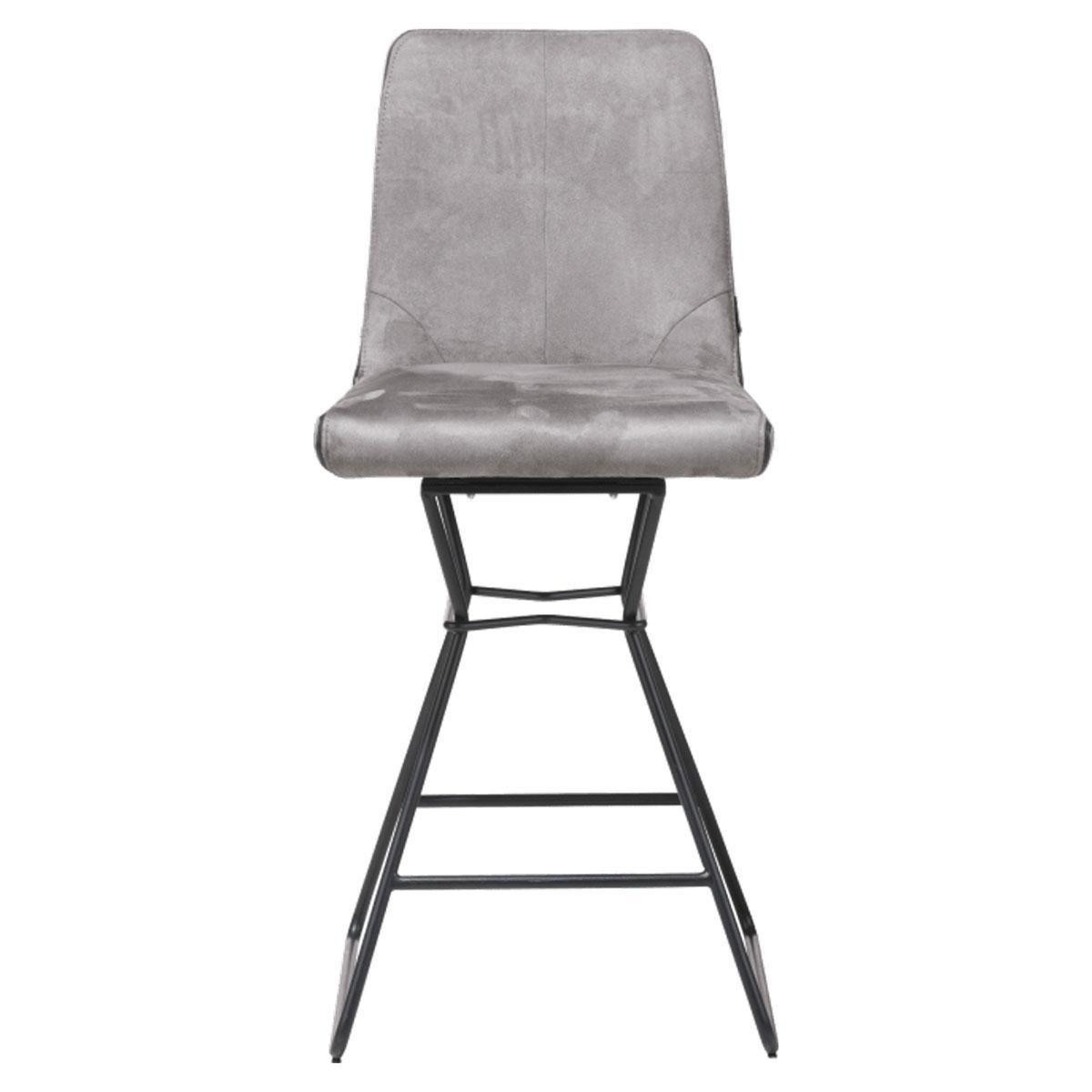 Chaise de bar AIDEN Xooon brun charcoal