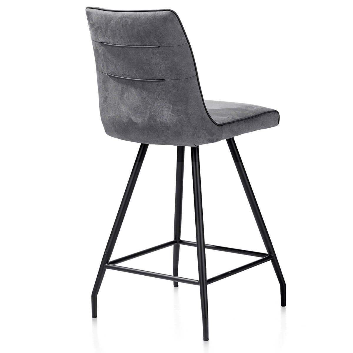 Chaise de bar MAXIM by Henders & Hazel  gris anthracite