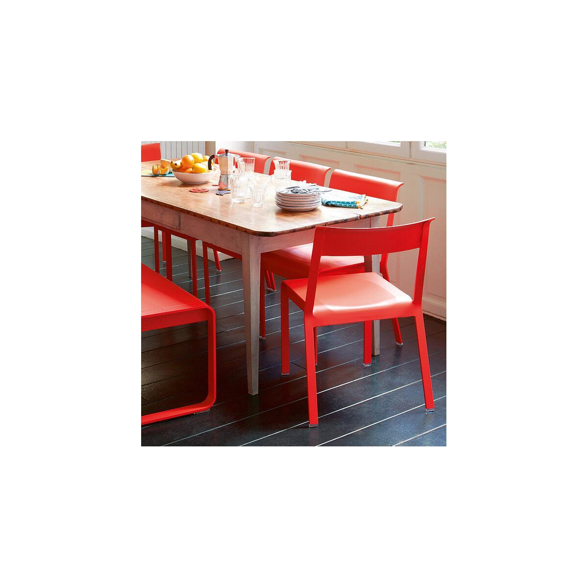 Chaise de jardin BELLEVIE Fermob gris métal | abitare-living.lu