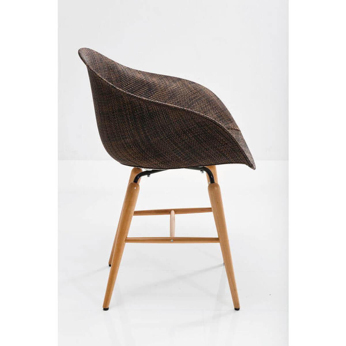 Chaise FORUM WOOD Kare Design brun
