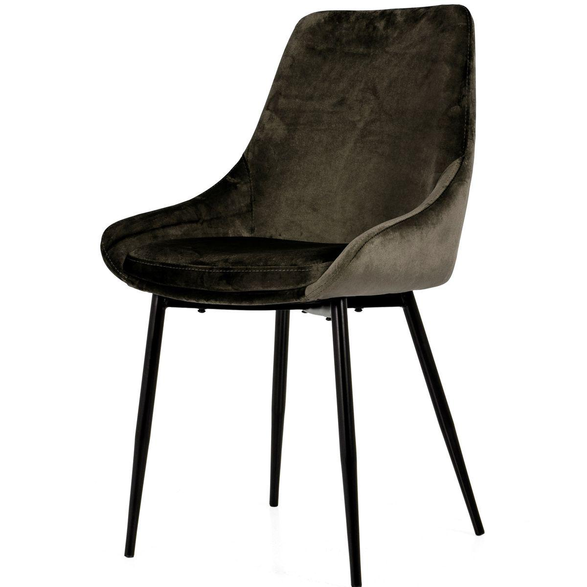Chaise LEX Tenzo velours taupe