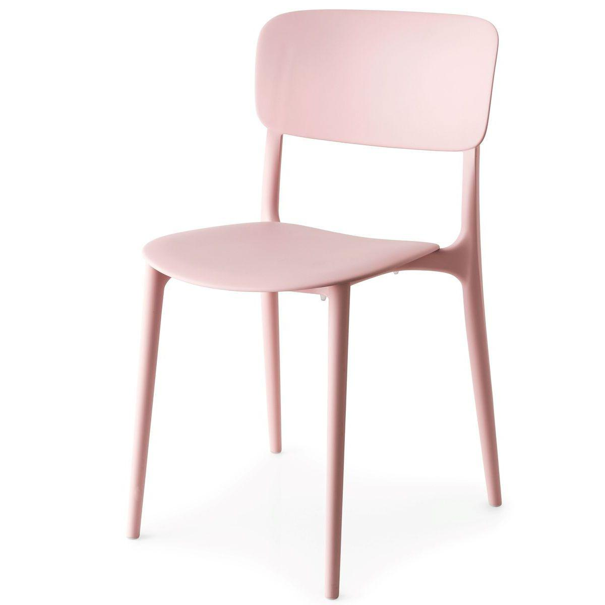 Chaise LIBERTY Calligaris rose poudre