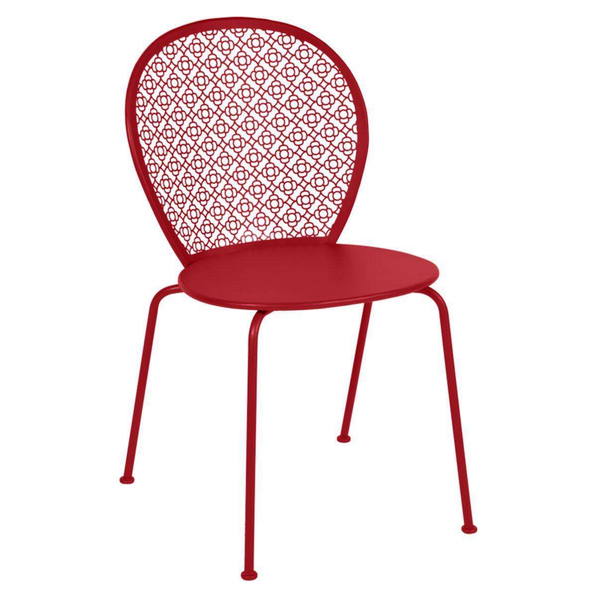 Chaise LORETTE Fermob rouge coquelicot
