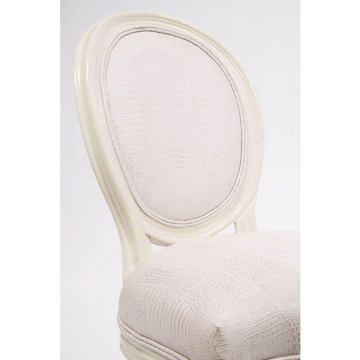 Chaise LOUIS Kare Design croco blanc