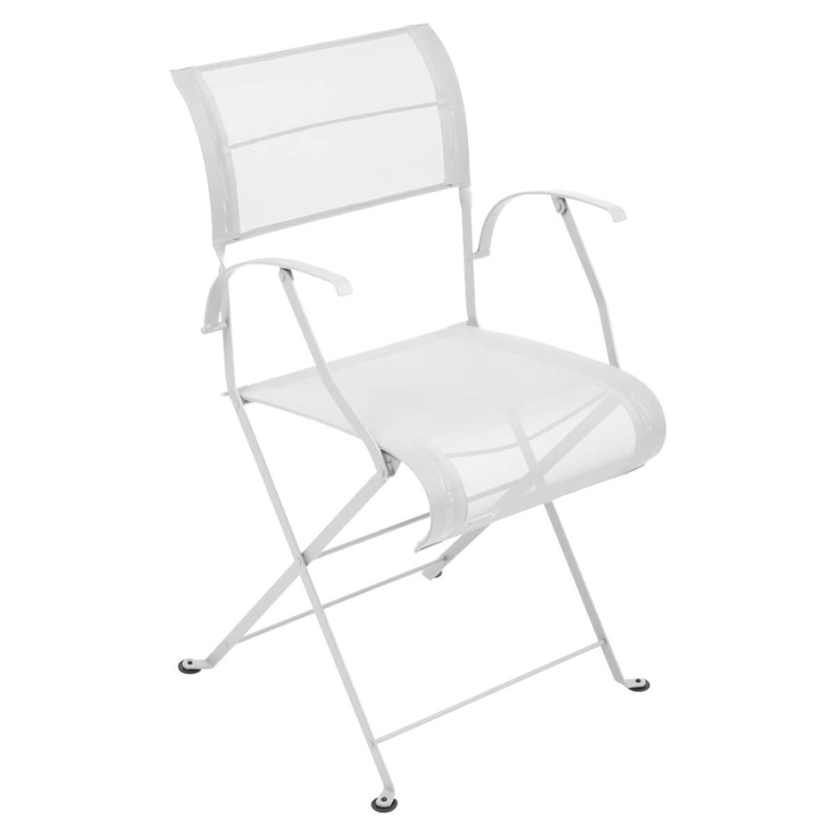 Chaise pliante bridge DUNE PREMIUM Fermob blanc coton
