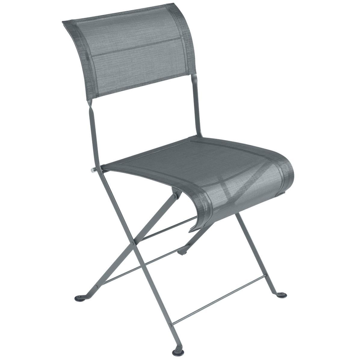 Chaise pliante DUNE PREMIUM Fermob gris orage