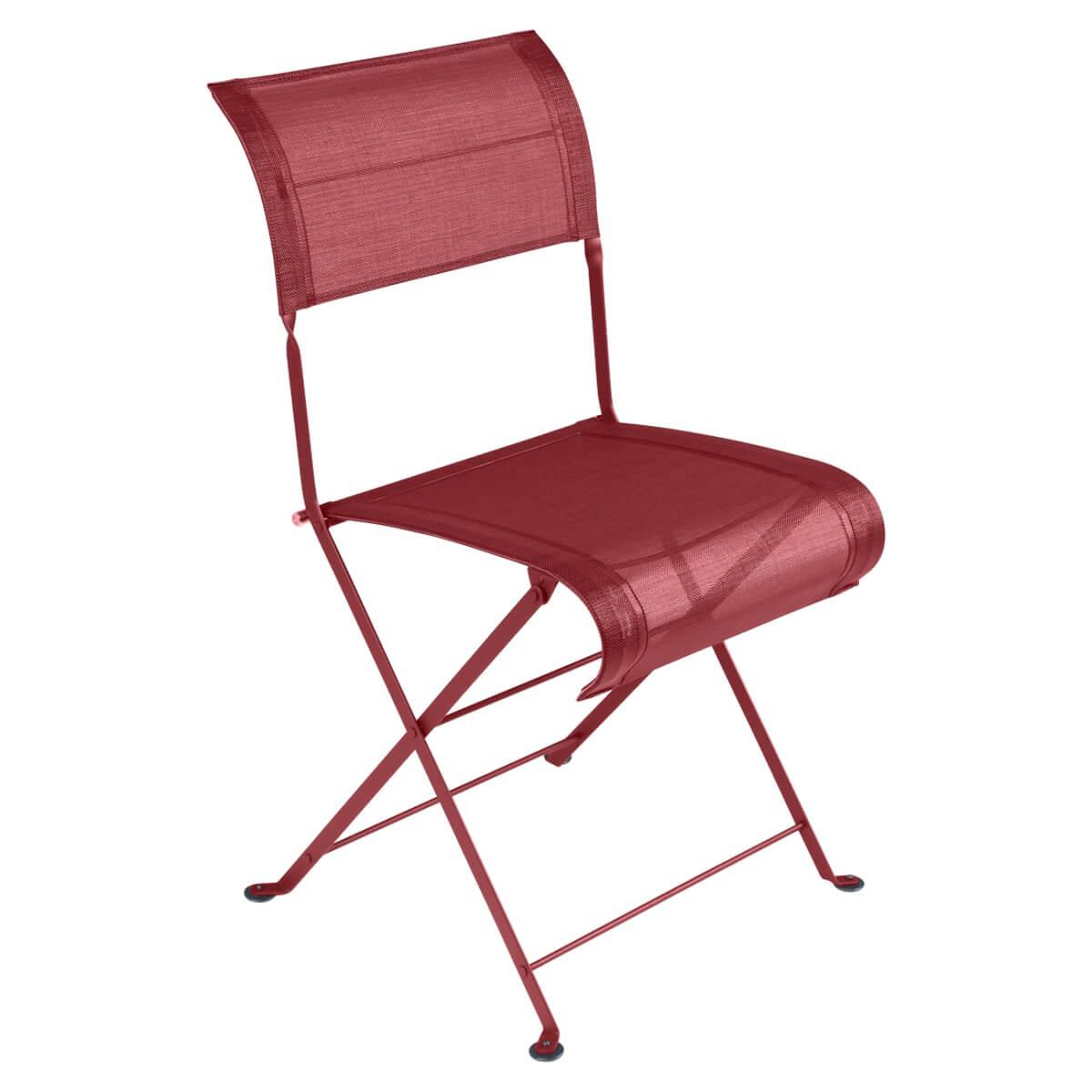 Chaise pliante DUNE PREMIUM Fermob rouge piment