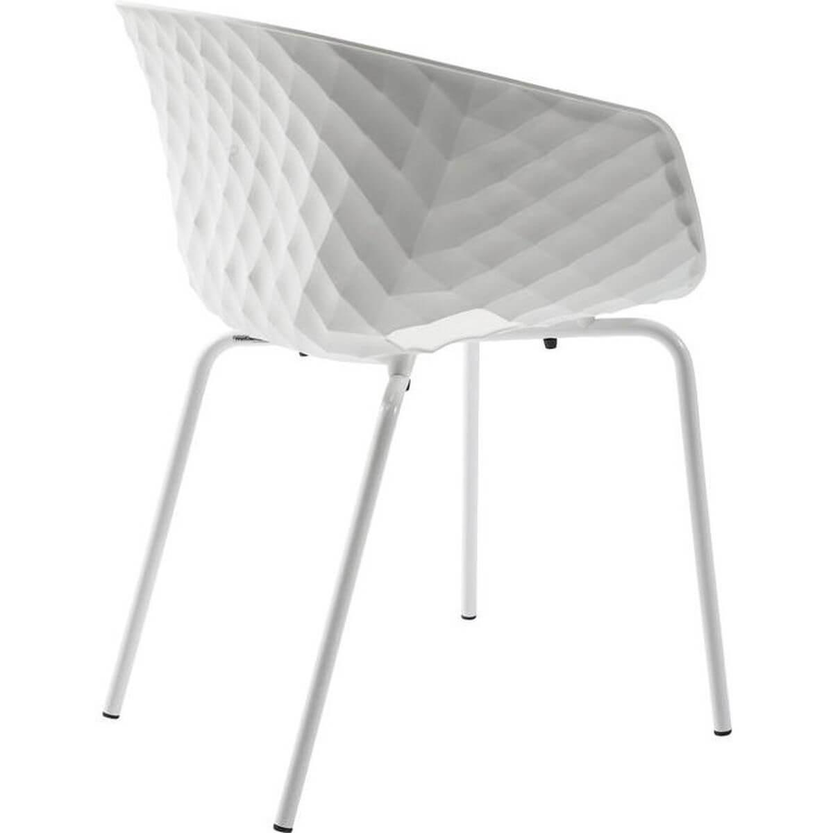 Chaise RADAR BUBBLE Kare Design blanc
