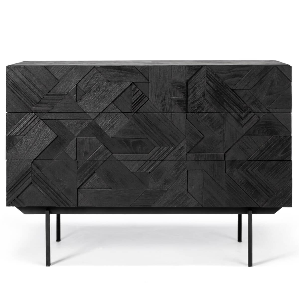 Commode 100cm GRAPHIC Ethnicraft teck noir