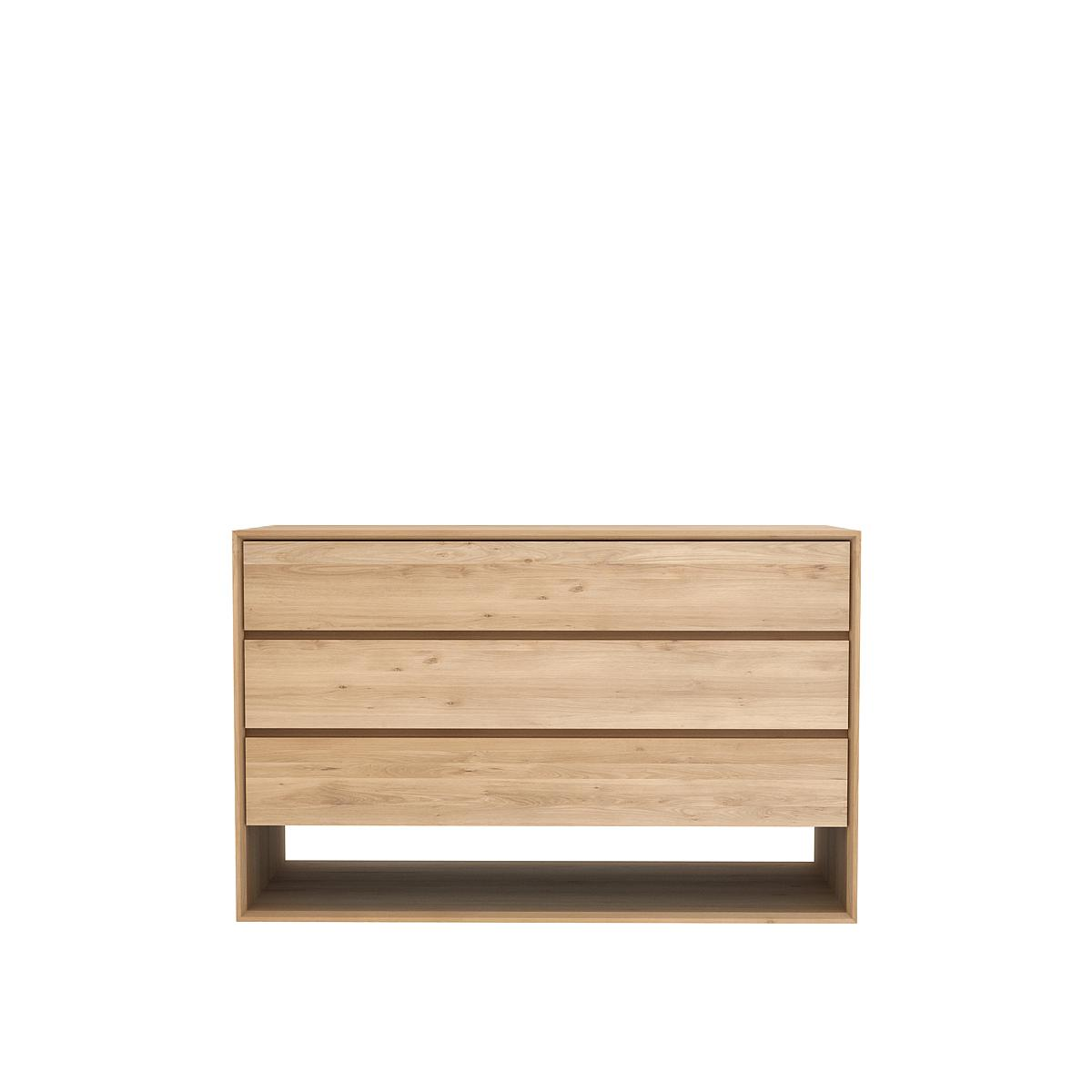 Commode NORDIC Ethnicraft 3 tiroirs chêne