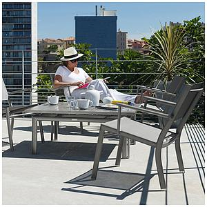 COSTA by Fermob Fauteuil bas blanc coton