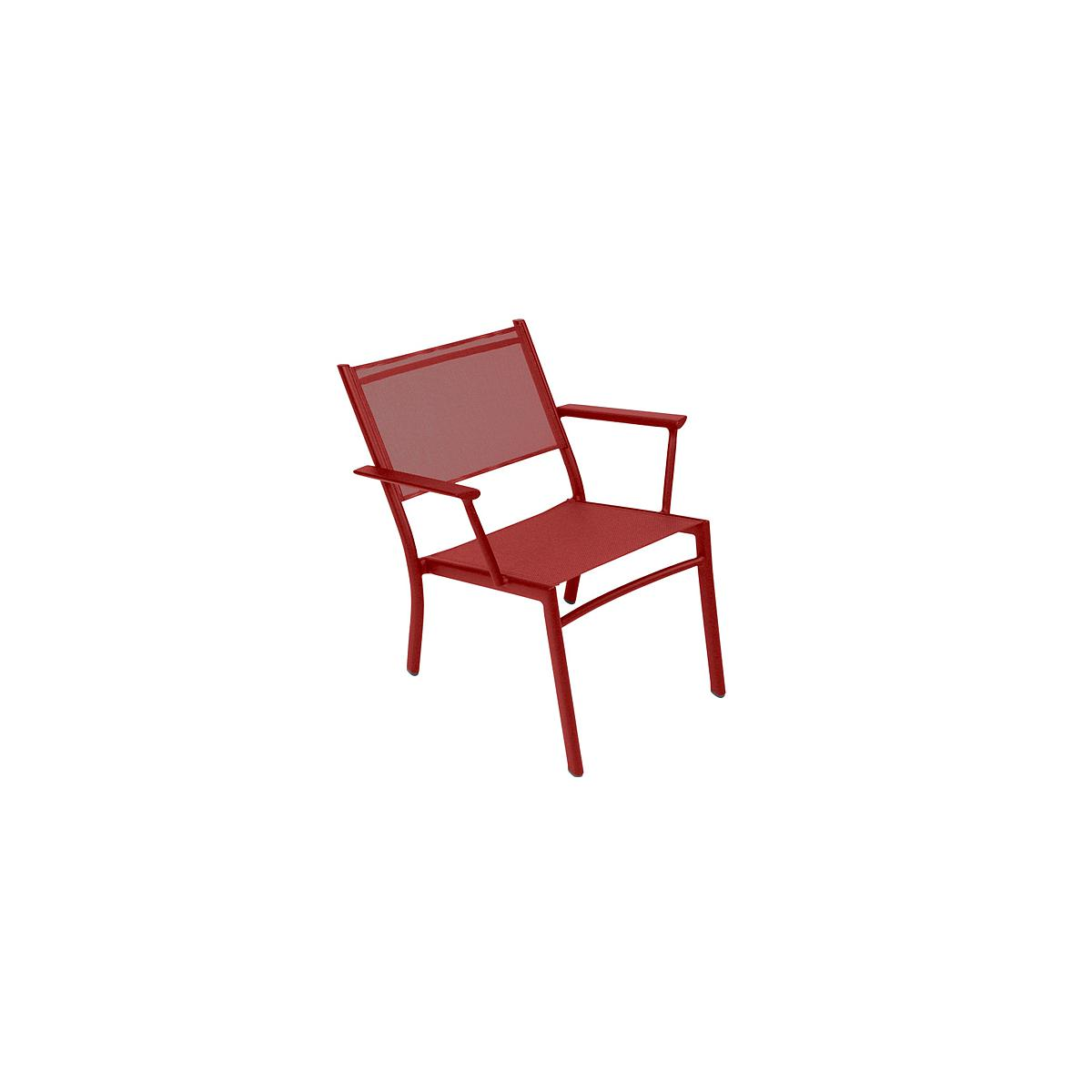 COSTA by Fermob Fauteuil bas piment