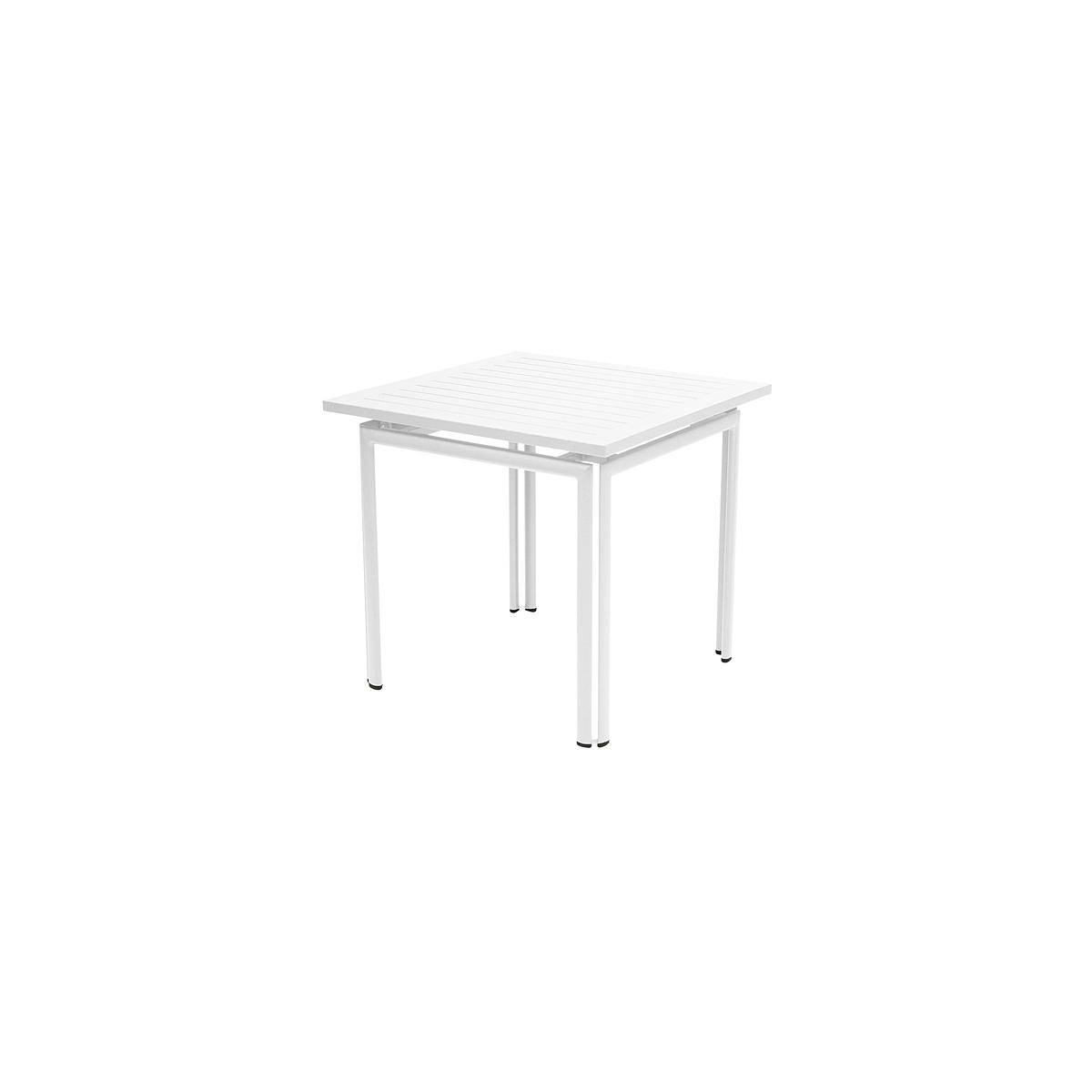 COSTA by Fermob Table 80x80 cm blanc coton