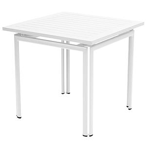 COSTA by Fermob Table 80x80 cm blanc coton