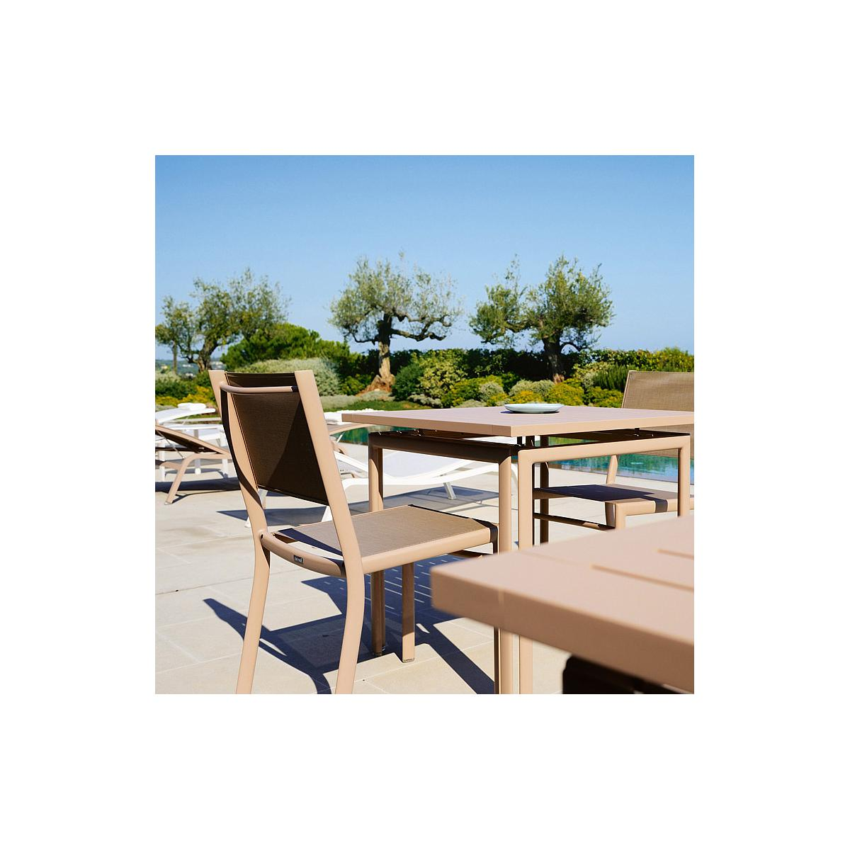COSTA by Fermob Table 80x80 cm capucine