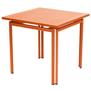 COSTA by Fermob Table 80x80 cm carotte