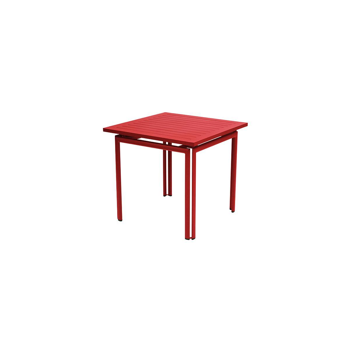 COSTA by Fermob Table 80x80 cm coquelicot