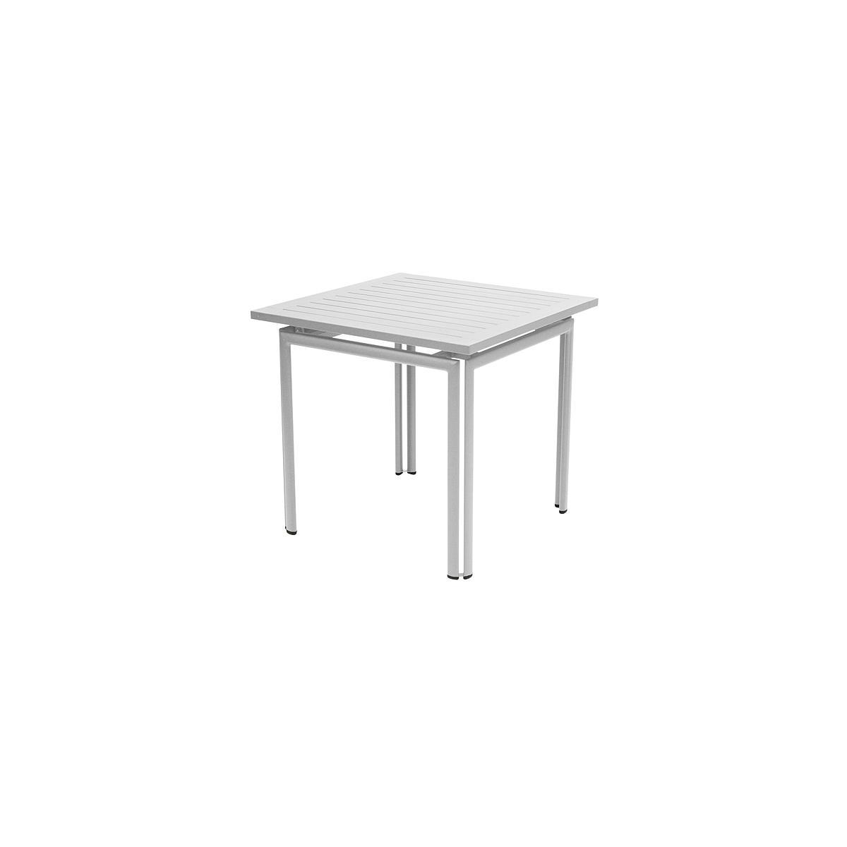 COSTA by Fermob Table 80x80 cm gris métal