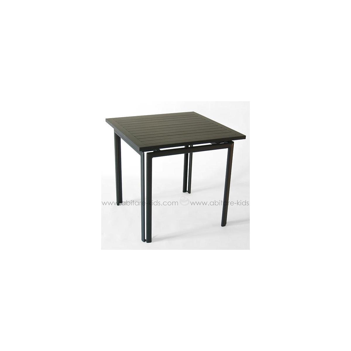 COSTA by Fermob Table 80x80 cm noir réglisse