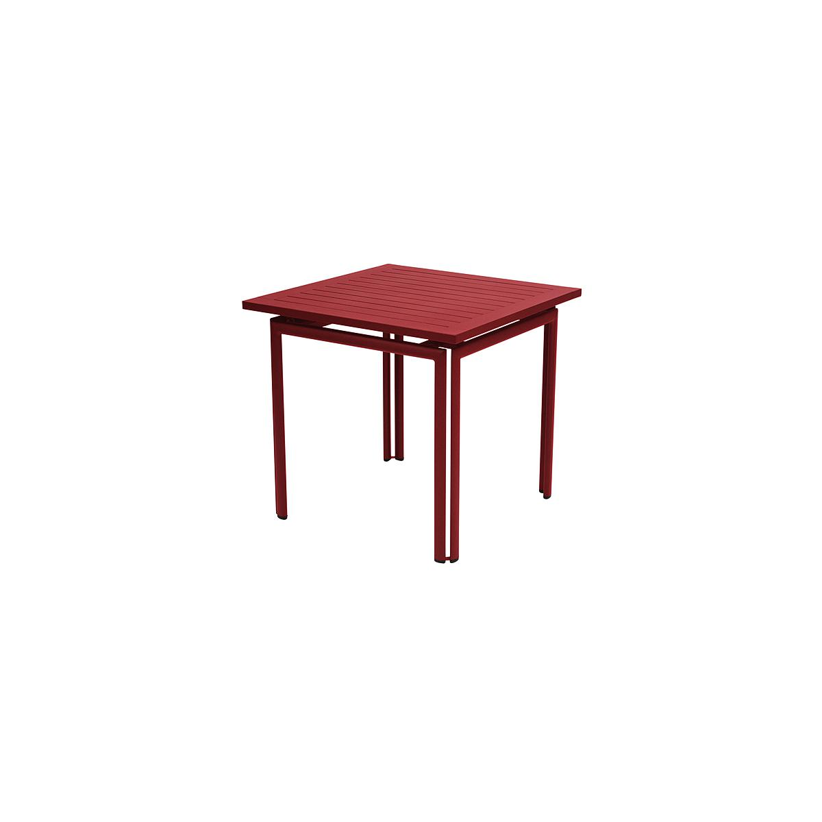 COSTA by Fermob Table 80x80 cm piment