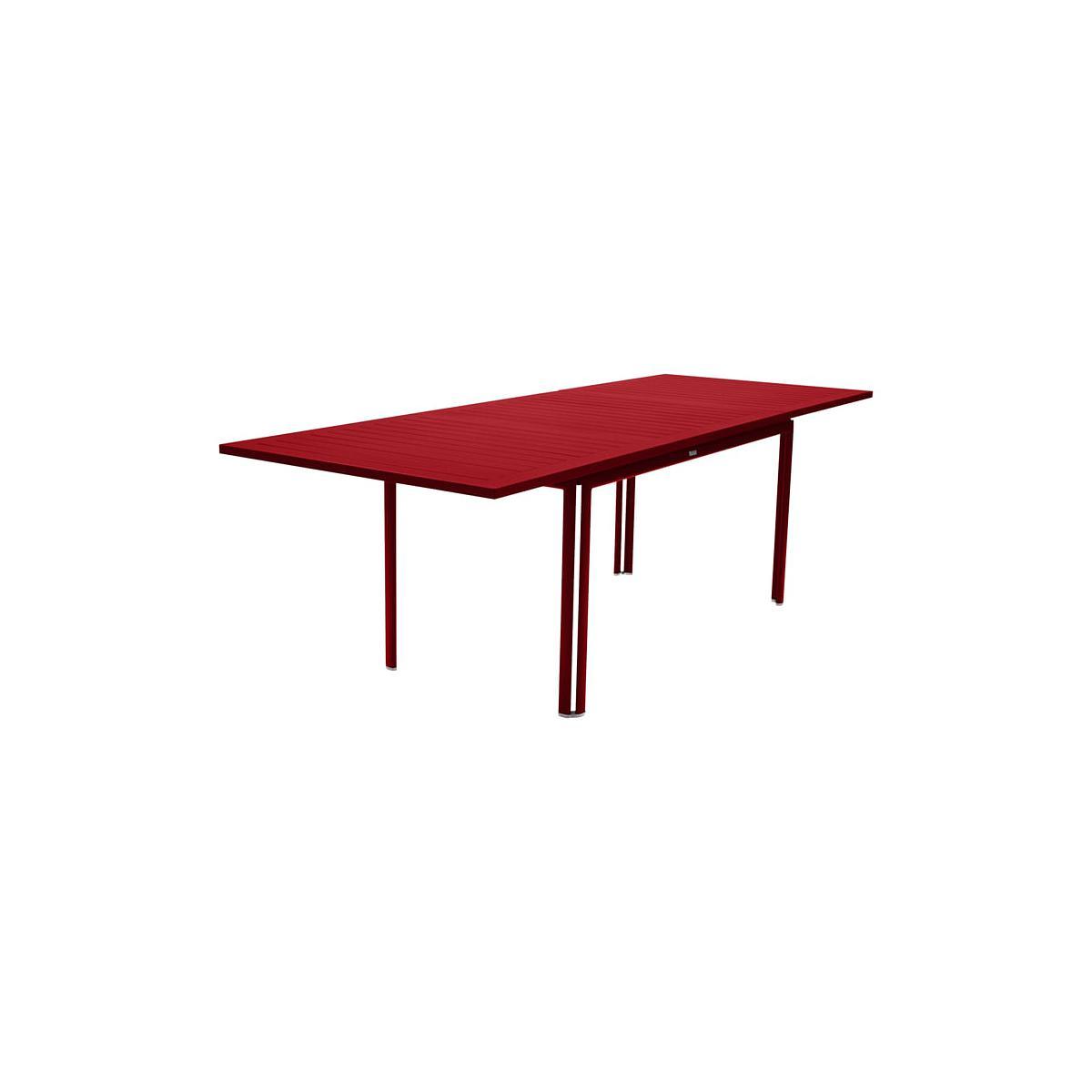 COSTA by Fermob table à allonge coquelicot