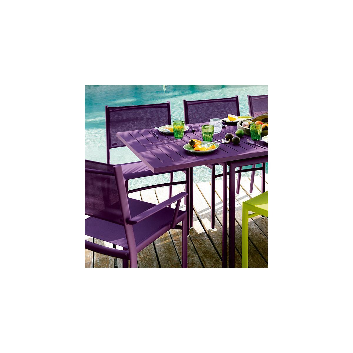 COSTA by Fermob table à allonge réglisse