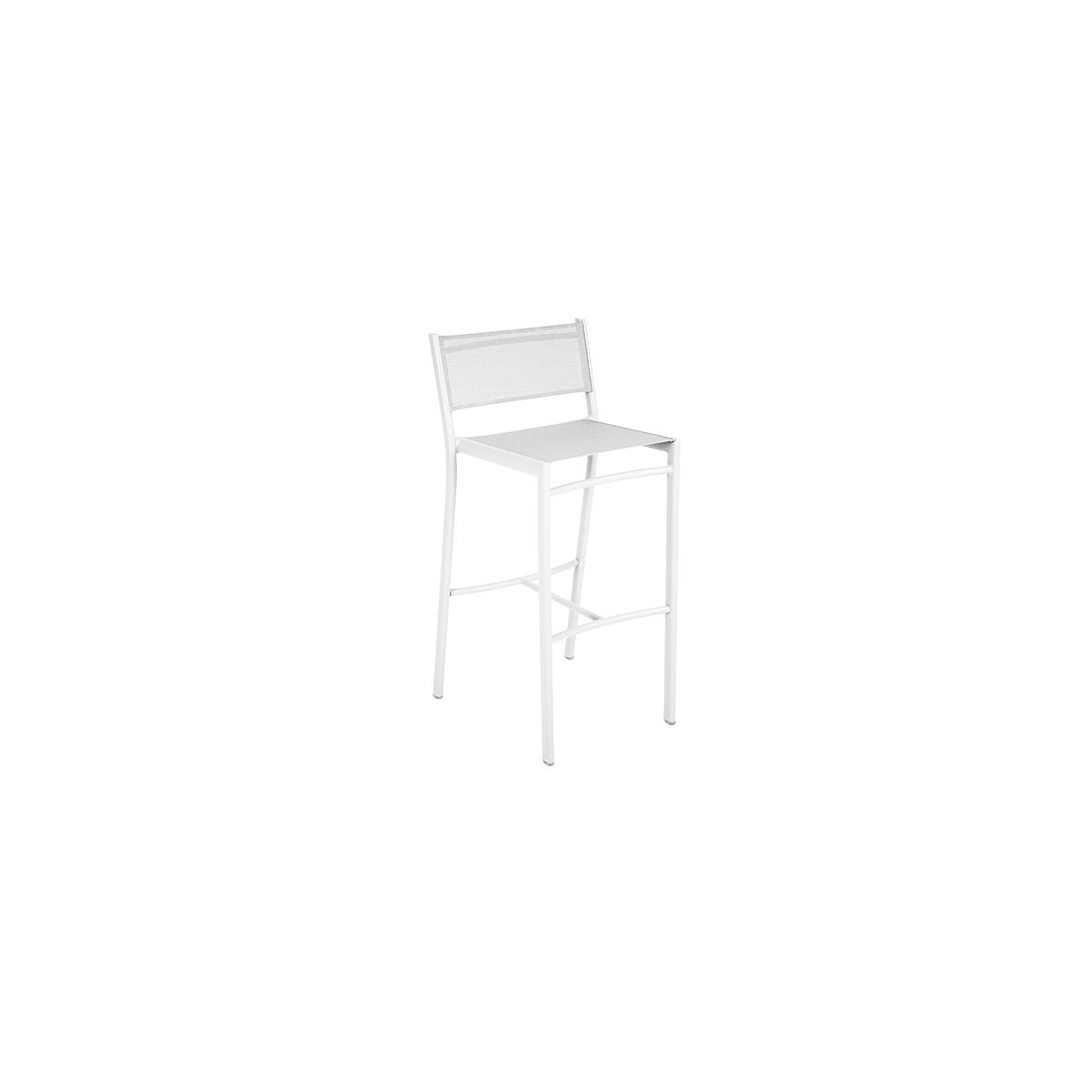 COSTA by Fermob Tabouret haut blanc coton