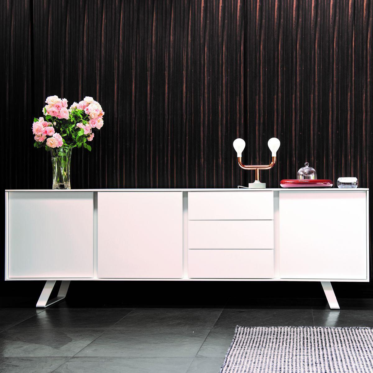 Dressoir 3 portes-tiroirs SECRET Calligaris blanc optique