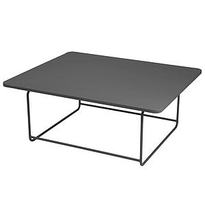 ELLIPSE by Fermob Table basse 90x110cm Carbone