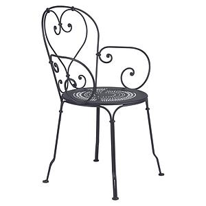 Fauteuil 1900 Fermob carbone