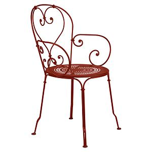 Fauteuil 1900 Fermob rouge ocre