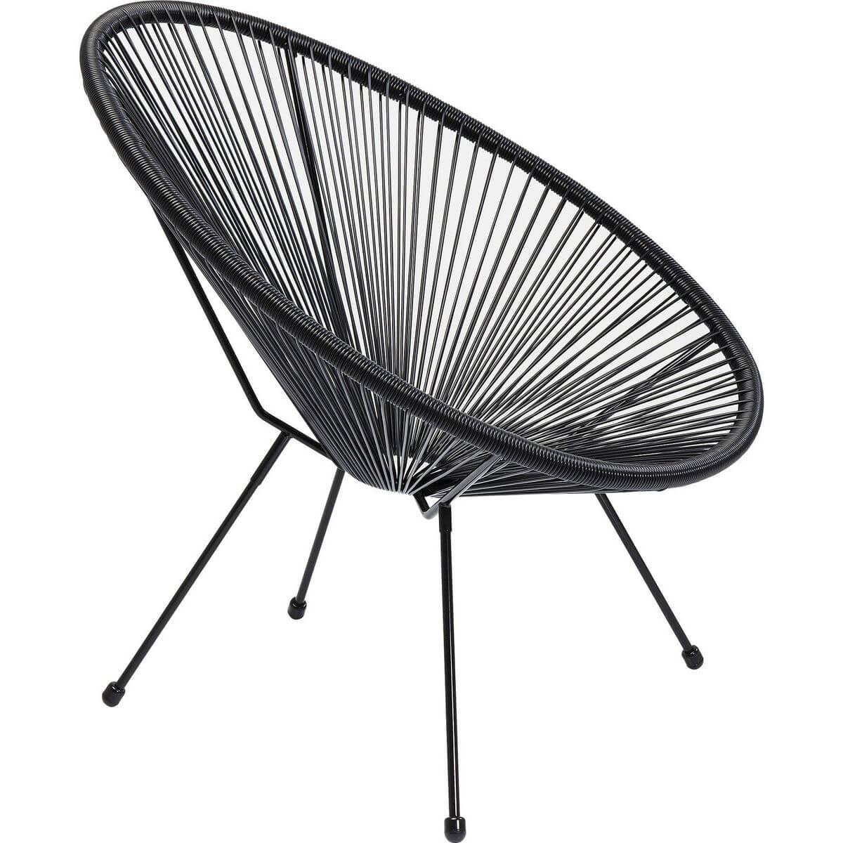 Fauteuil ACAPULCO Kare Design noir