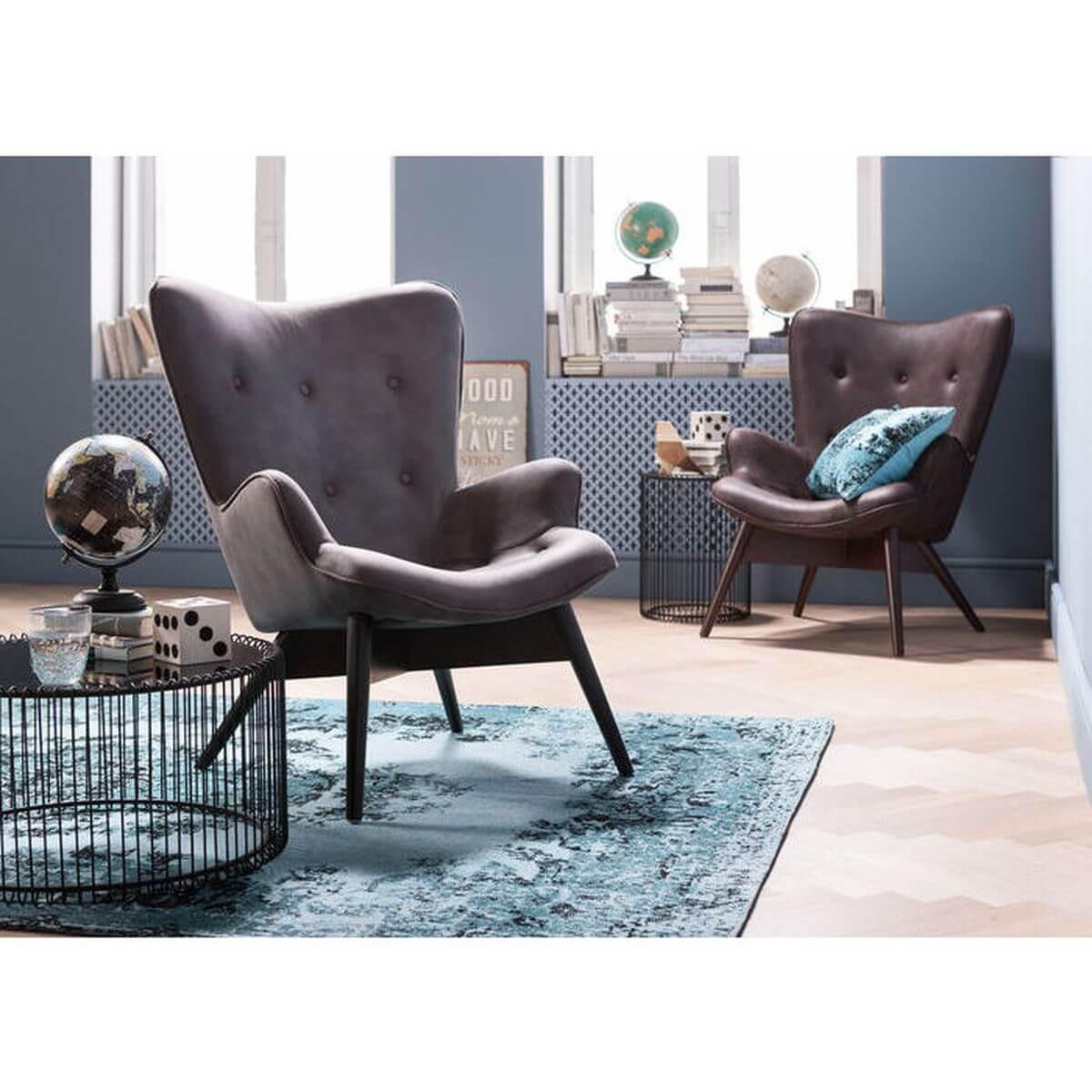 Fauteuil ANGELS WINGS ECO Kare Design brun foncé