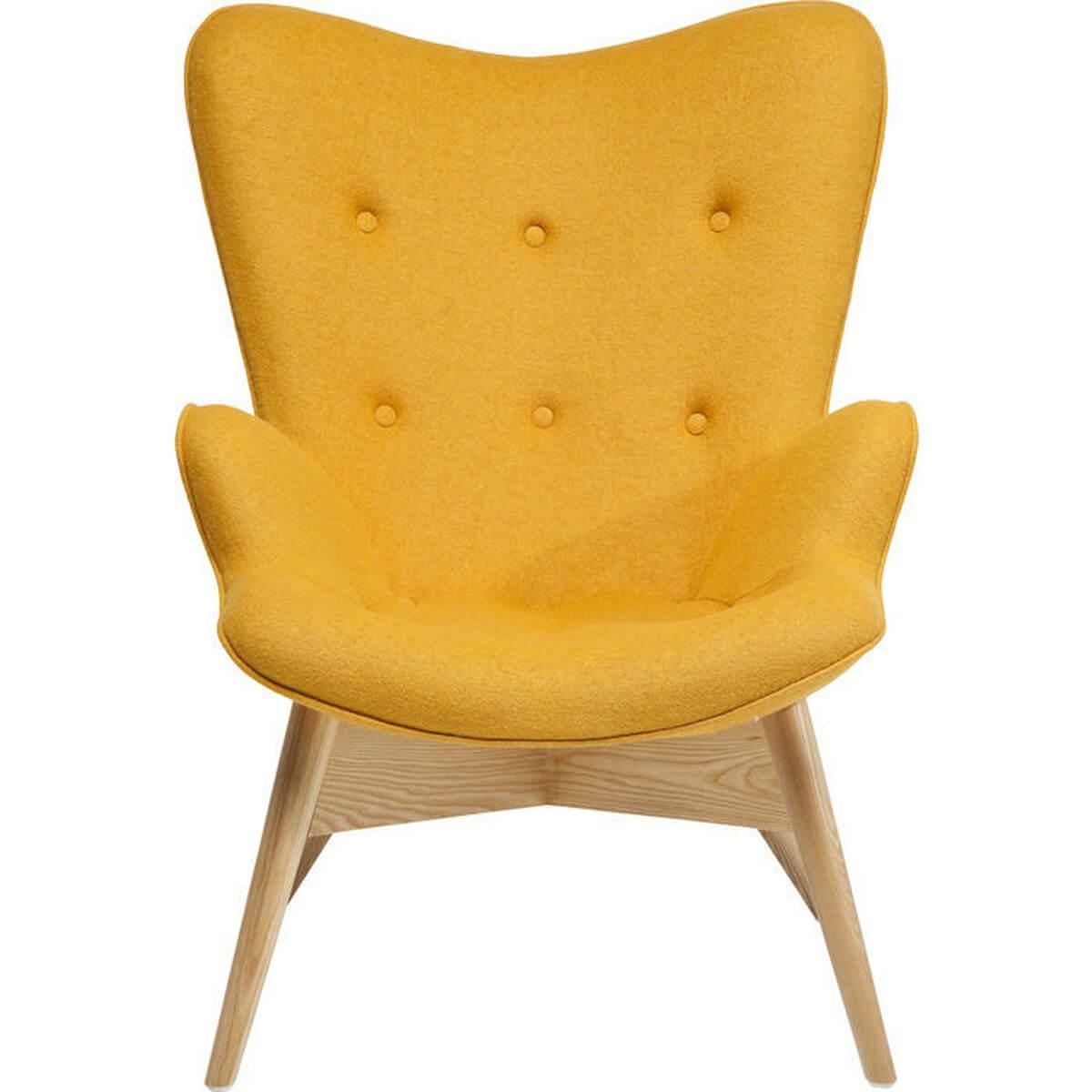 Fauteuil ANGELS WINGS ECO Kare Design jaune