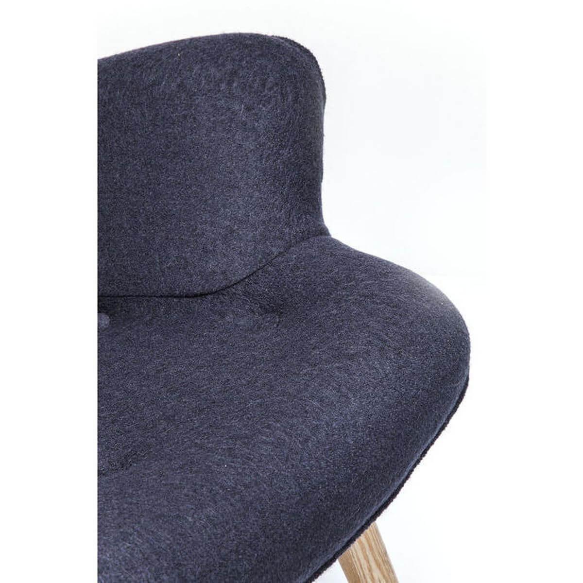 Fauteuil ANGELS WINGS Kare Design gris foncé Eco