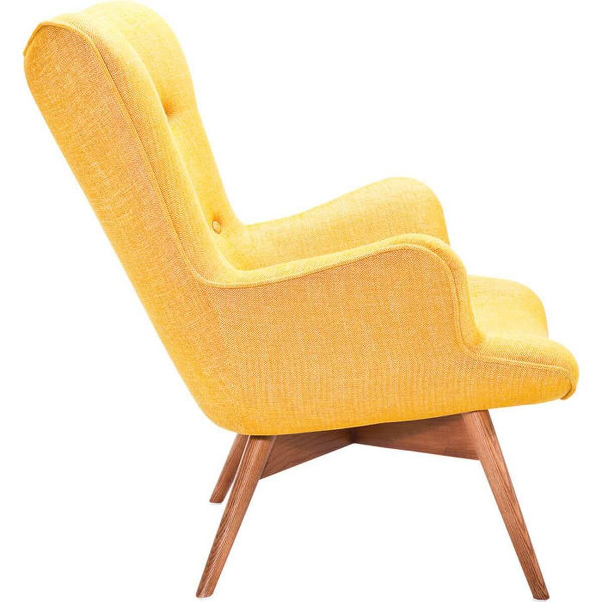 Fauteuil ANGELS WINGS RHYTHM Kare Design moutarde