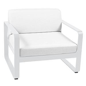 Fauteuil de jardin BELLEVIE Fermob blanc coton-blanc grisé