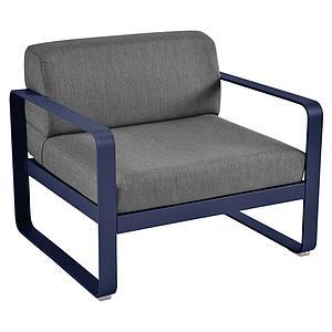 Fauteuil de jardin BELLEVIE Fermob bleu abysse-gris graphite