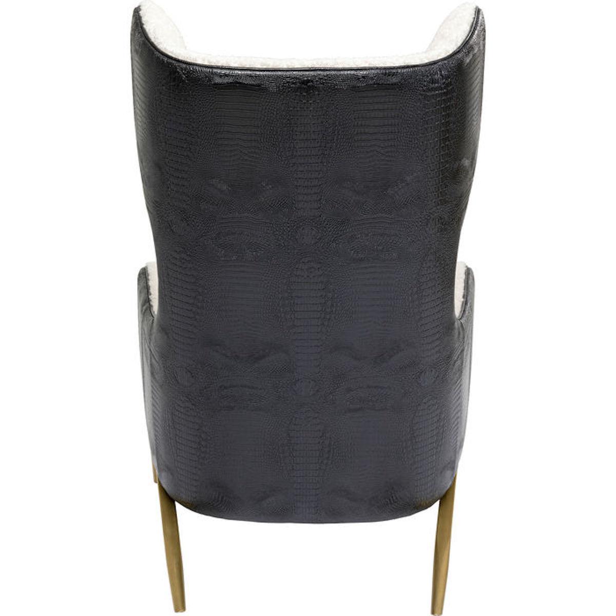 Fauteuil MILLION DOLLAR CLUB Kare Design tissu 1