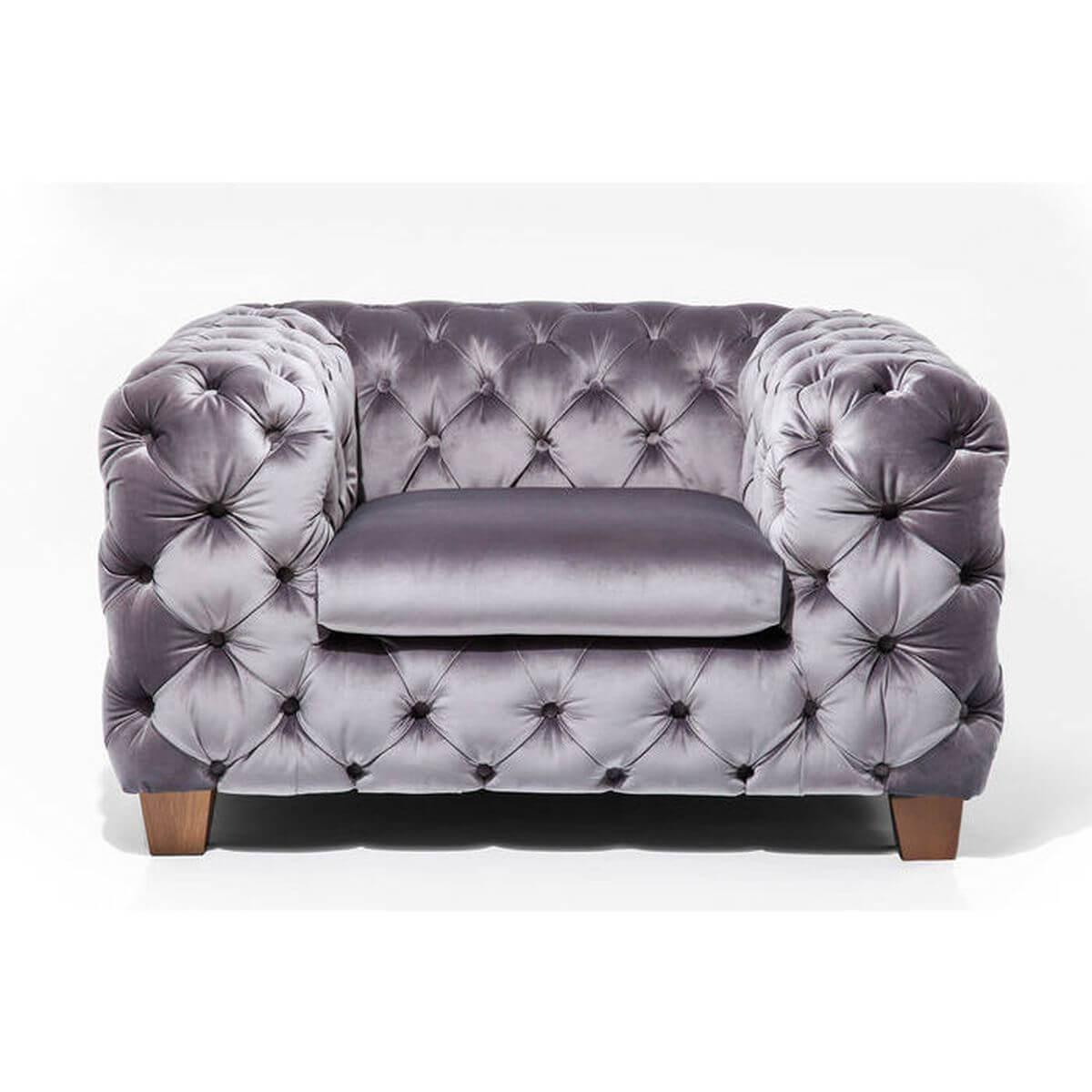 MY DESIRE VELVET by Kare Fauteuil Gris