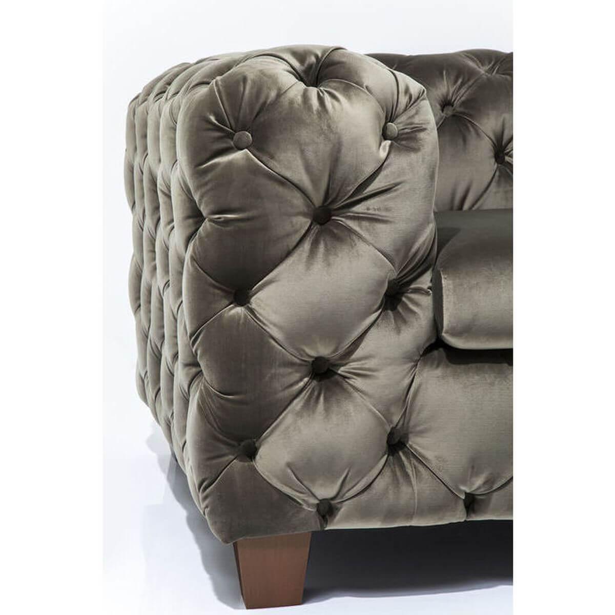 Fauteuil MY DESIRE Kare Design velvet kaki