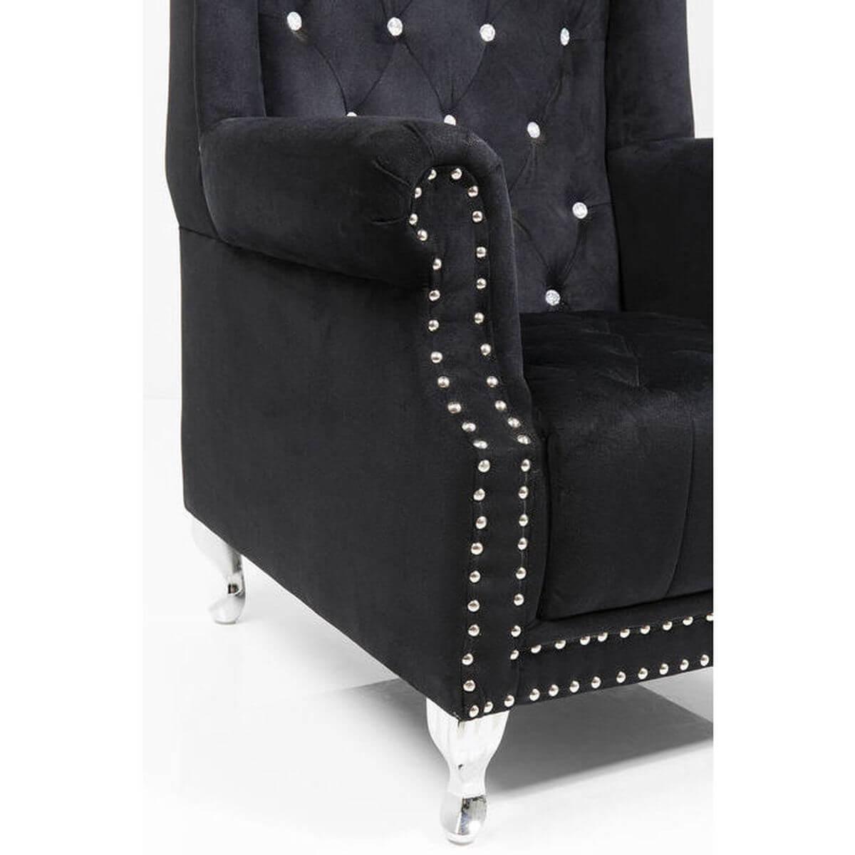 Fauteuil QUEEN Kare Design noir