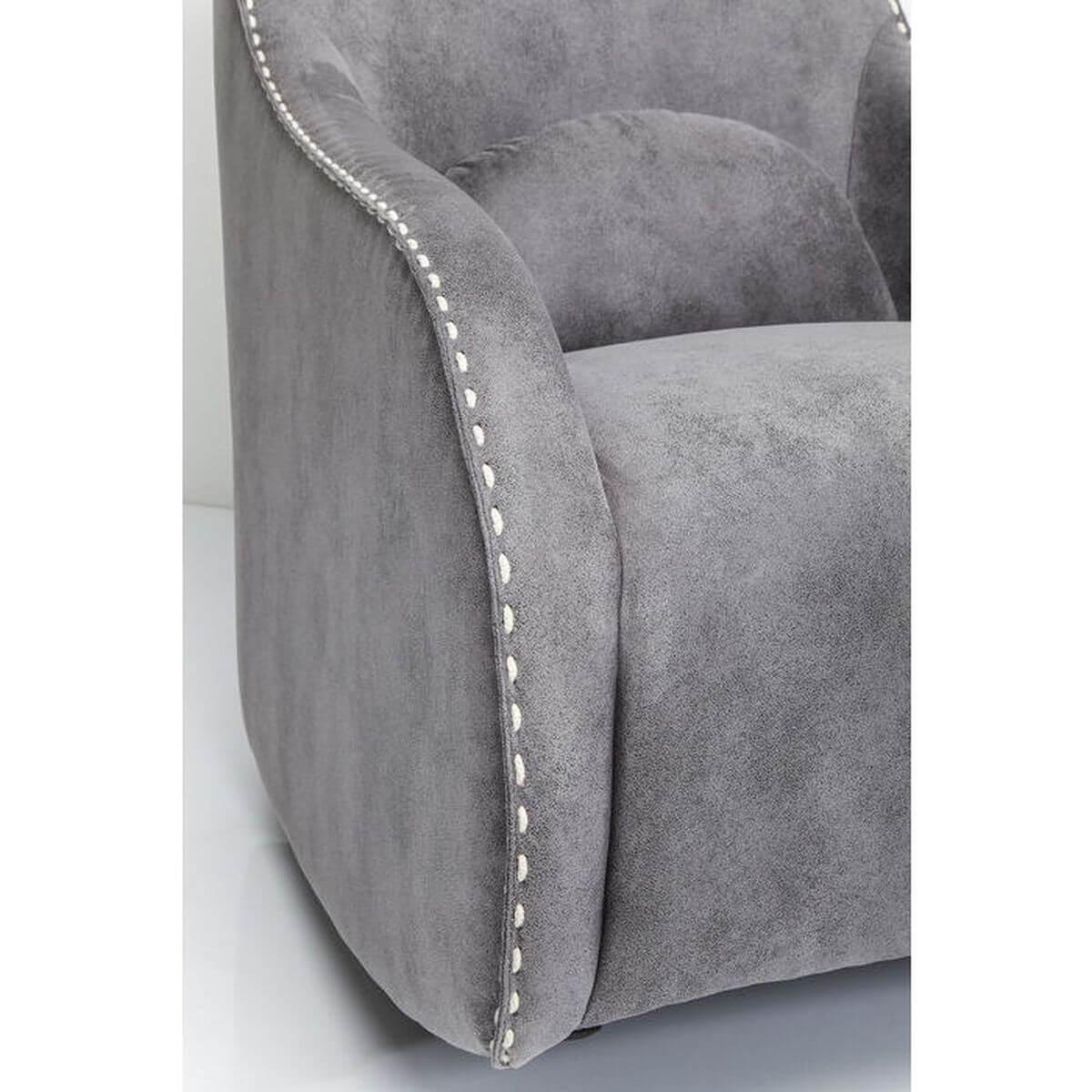 Fauteuil RITMO VINTAGE Kare Design gris