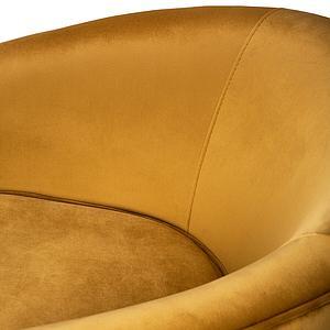 Fauteuil SWIVEL Ethnicraft gold velvet