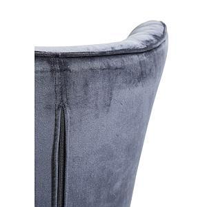 Fauteuil TUDOR VELVET Kare Design noir